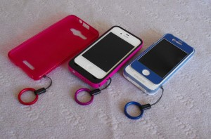 iPhone ストラップホール バッテリーケース ストラップ HTL21