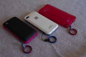 iPhone HTL21 HTC-J ストラップホール ストラップ バッテリーケース