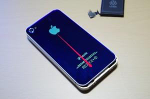 iPhone4S 裏ぶた 装着