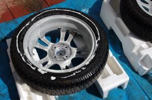 タイヤ洗浄 裏側