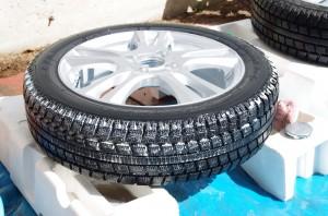 タイヤトレッド面洗浄